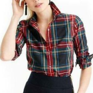 J crew perfect fit plaid button down long sleeve